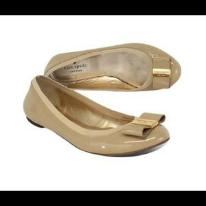 Kate spade nude patent leather flats